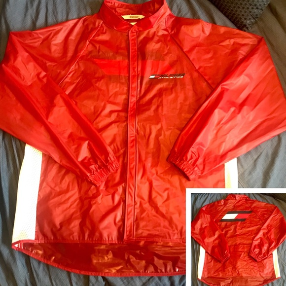 ad8c050ed Tommy Hilfiger Jackets & Coats | Rare 90s Athletics Raincoat Jacket ...